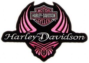 Harley Davidson Logo Clip Art | FREE: Ladies Pink Harley Davidson Logo Stretchable Iron On Transfer ...