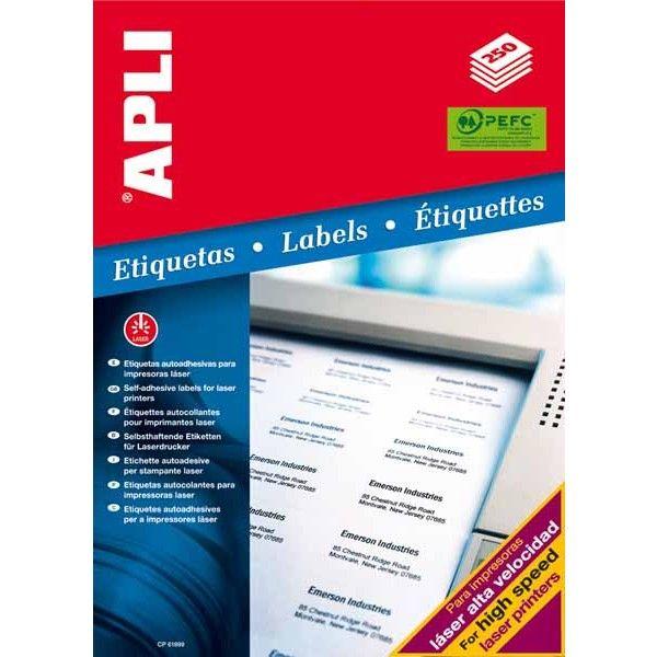 Comprar 250 Hojas Etiquetas adhesivas para láser 48 x 25.4mm Apli 02516  #autoadhesivo #business #etiquetas #blancas #material #empresa #comercio #comercial #laser