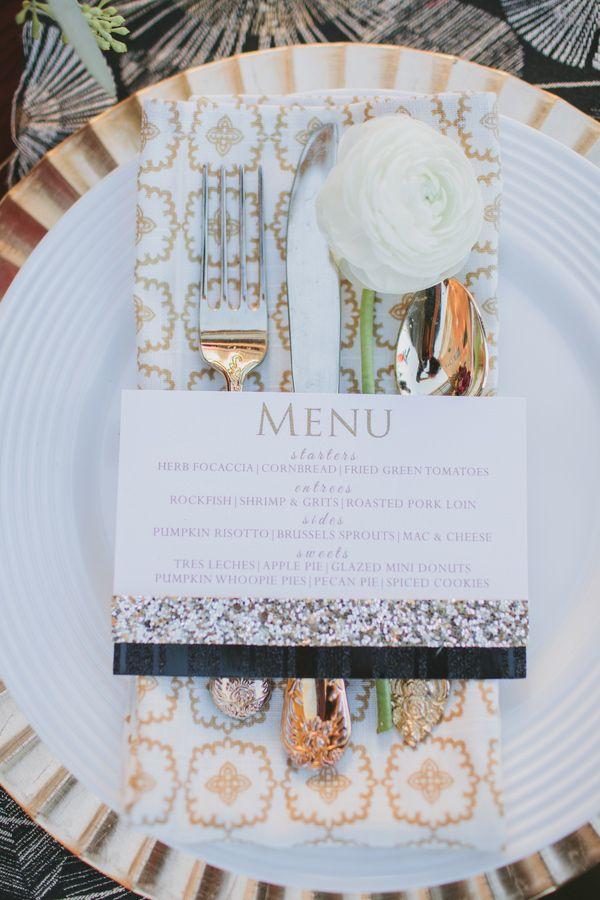 white and gold wedding details, photo by Marvelous Things Photography http://ruffledblog.com/west-side-story-inspiration-shoot #elegant #glam #weddingideas