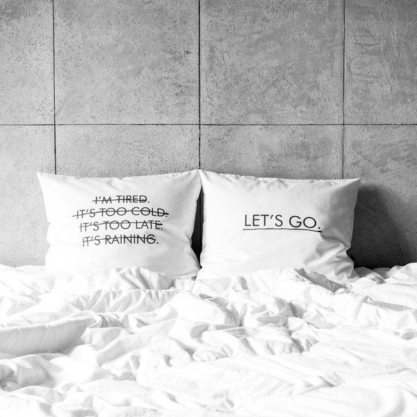poszewki na poduszki - let's go. w White Place na DaWanda.com