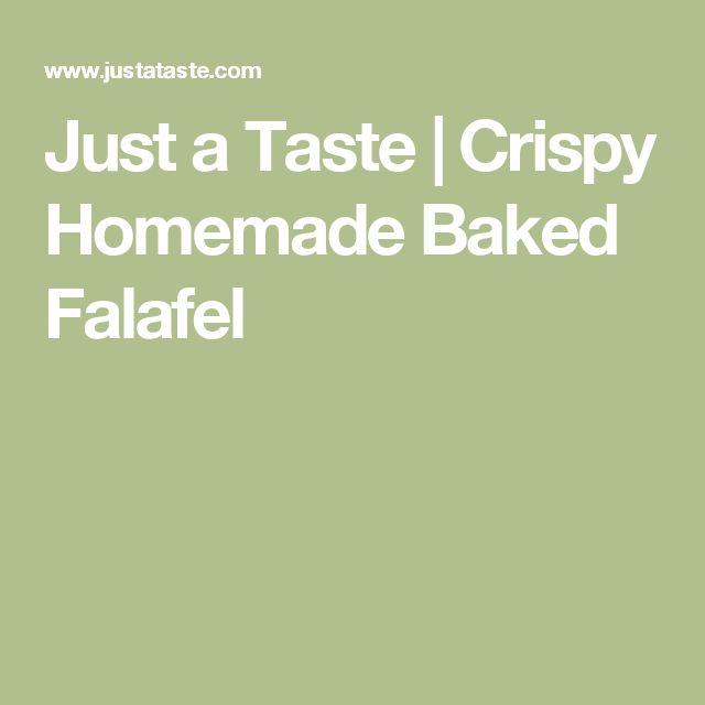 Just a Taste | Crispy Homemade Baked Falafel