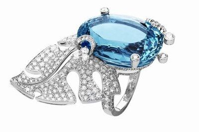 Bijoux Van Cleef& Arpels : bague or blanc diamants - collection haute joaillerie California Reverie de Van Cleef&Arpels - Bijoux femme : haute- joaillerie - bijoux luxe