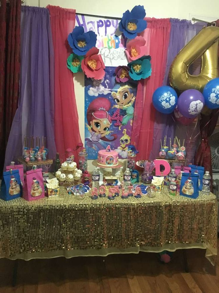 Shimmer and shine birthday party ideas birthdays for Shimmer and shine craft ideas