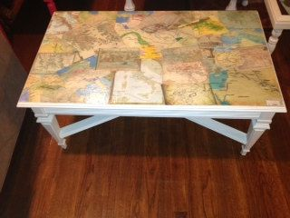 Vintage Decoupage Coffee Table by ShabbyulousChic on Etsy