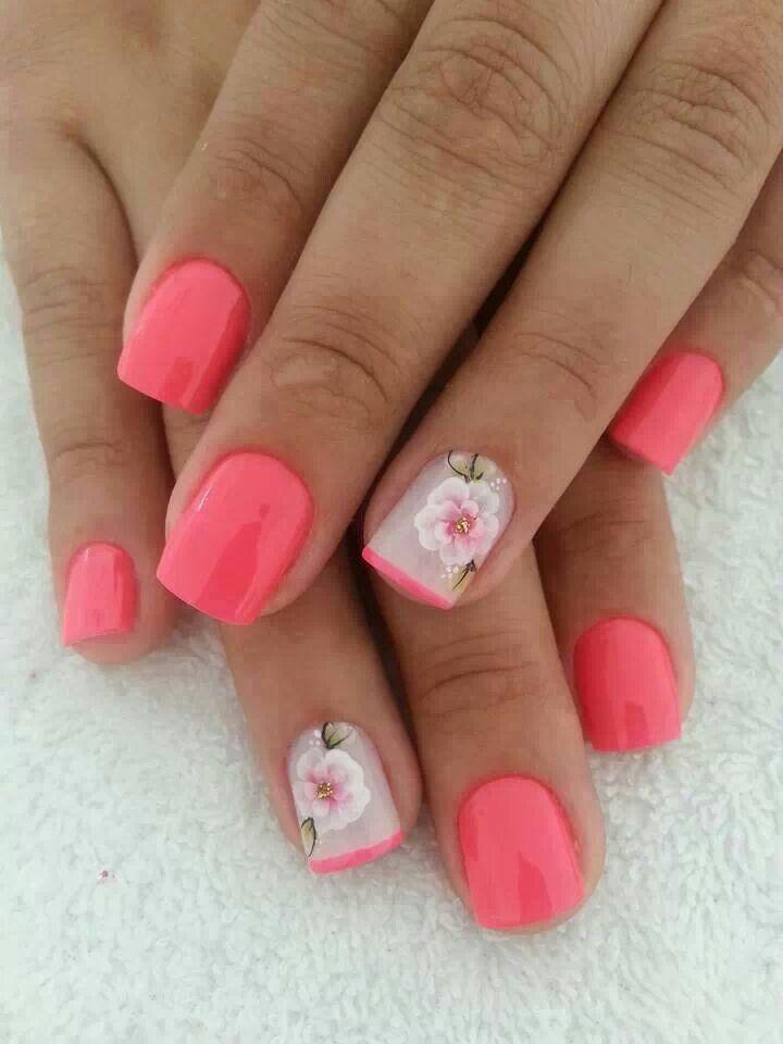 nails die flower