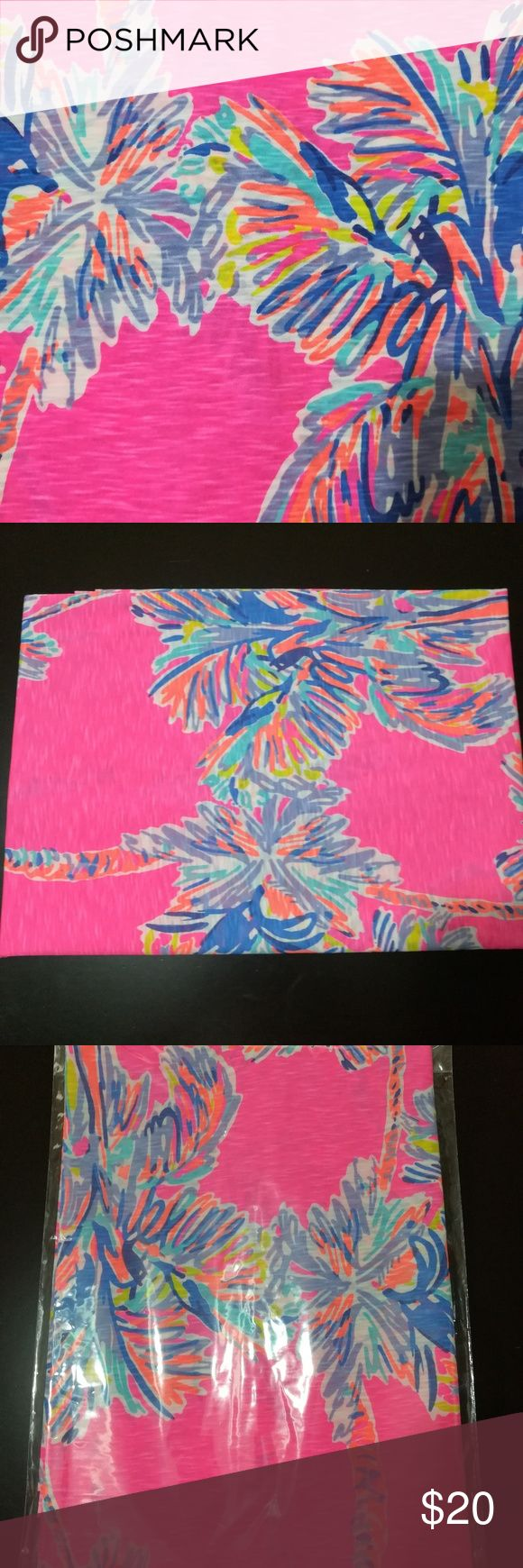 Lilly Pulitzer Fabric - Flamingo Pink Nice Stems Flamingo Pink Nice Stems - 40/1 Slubby Cotton Lilly Pulitzer Other