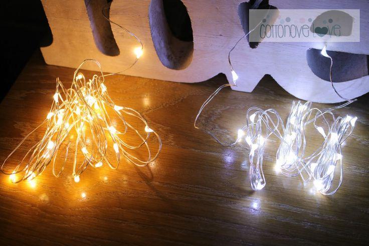 Cotton ball. Balls lighting, cotton ball lights, sklep | cottonovelove.pl > Kropelki światła - łańuch 10 LED na baterie CIEPŁE/ZIMNE