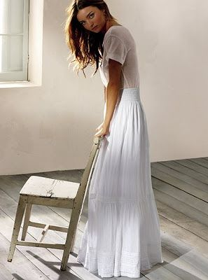 10 best White maxi skirt outfits images on Pinterest