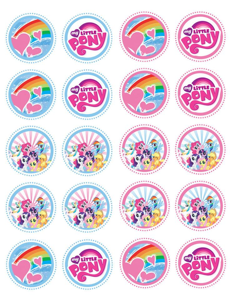 The charming My Little Pony will warm your heart and the hearts of your little guests when you use our edible image toppers to decorate your cupcakes. Wafer paper (rice paper) is a great way to add co