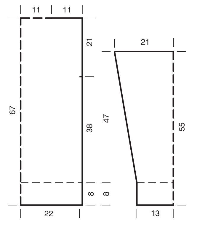 Схема и описание вязания на спицах джемпера с эффектом деграде из журнала «Вязание. Burda» №8/2015
