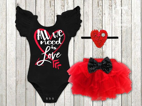 Girl's Valentines Day Outfit Baby Girl Valentines Shirt