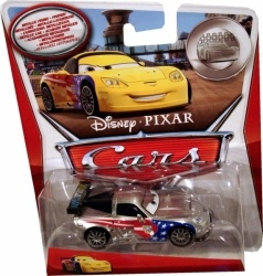 Noile masinute Cars2 au primit o vopsea argintie stralucitoare. Scara 1:64. Dimensine cca 6-8 cm. Recomandat + 3 ani.