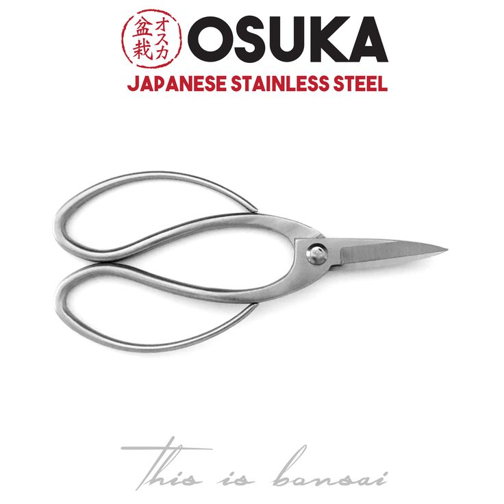 • OSUKA Bonsai Root Scissors (Bonsai Root Shears • Length – 195mm • Finish – Silver • Material – High Quality Japanese Stainless Steel
