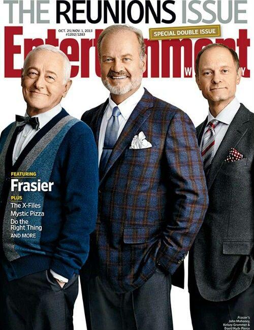 'The Reunions Issue' Martin Crane (John Mahoney) ,Frasier Crane (Kelsey Grammer) & Niles Crane (David Hyde Pierce) - 'Frasier'