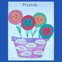 Friends are... Craft and Activity for preschool and kindergarten