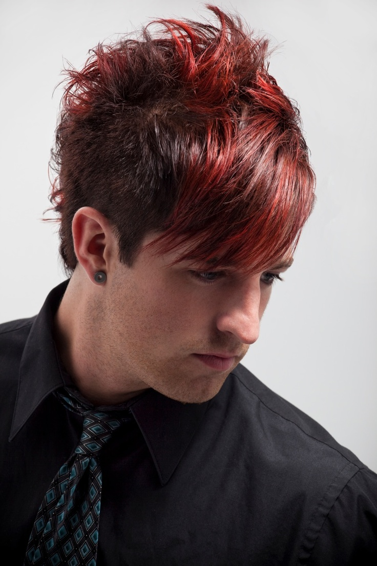 Brillare Hairdressing Academy Gallery Hair Style Cut Layers Color Red
