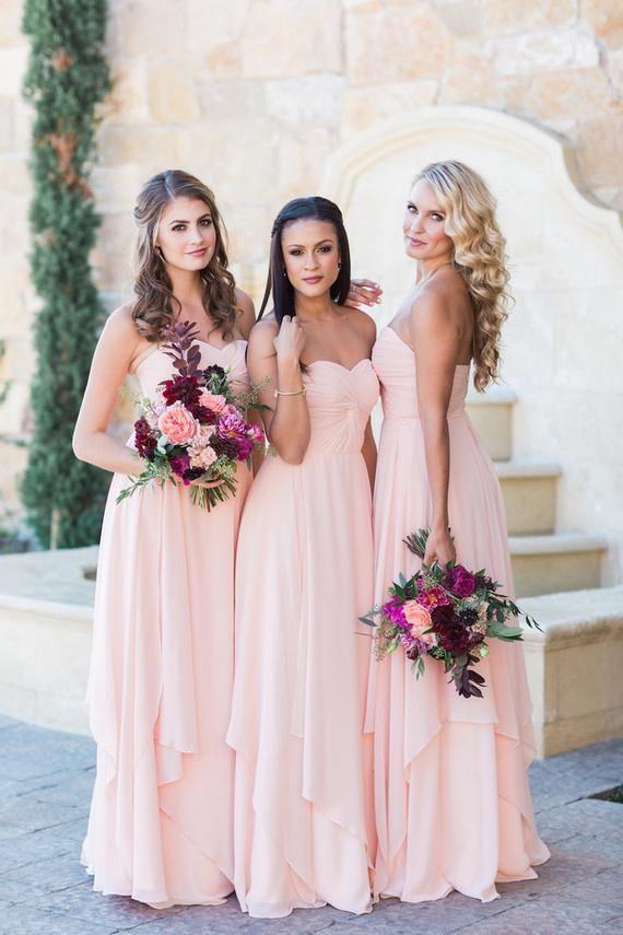 Sweetheart Sleeveless Floor-Length Solid Ruched Sheath Bridesmaid Gown – JoJoBride #bridesmaid #bridesmaiddresses #bridesmaiddresses2018 #bridesmaid...
