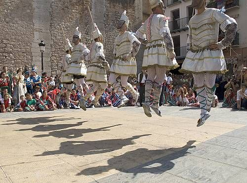 The Festivity of 'la Mare de Déu de la Salut' is celebrated in Algemesí in the Province of Valencia, Spain. Every 7 and 8 September almost 1,400 people participate in theatre, music, dance and performances organized in the historical areas of the city: Valencia, La Muntanya, Santa Barbara and La Capella.