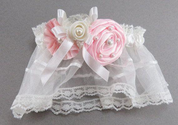 Pink Wedding Garter Blush Wedding Garter Bridal by AngelicasBridal, $25.00