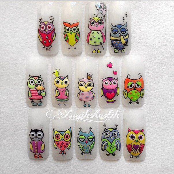 куклы новогодняя сова рисунок на ногтях цвет мебели
