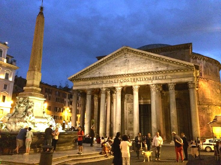 The pantheon wows me day or night, but it does have a very special glow when the sun goes down.