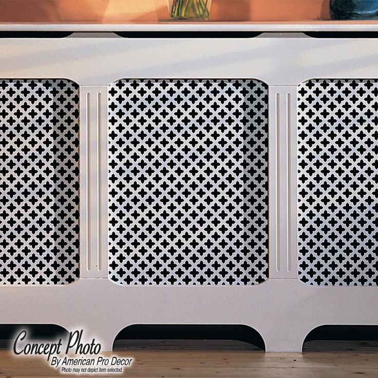 American Pro Decor 72 In X 24 In X 1 8 In Unfinished Multi Square Decorative Perforated Paintable Mdf Screening Panel Insert 5apd10618 The Home Depot Paneling Decor Radiator Cover