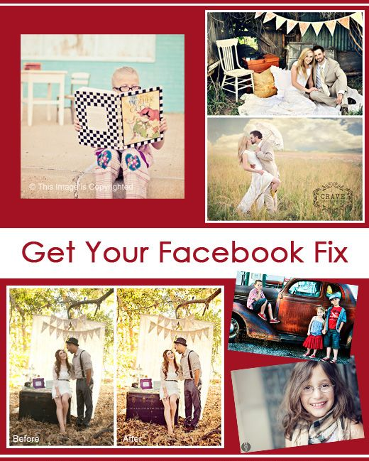 If your photos look bad on Facebook, we have your fix. MCP's free Facebook Fix Photoshop actions will help make your photos more presentable.