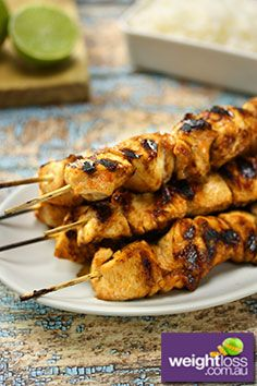 Thai+Chicken+Skewers.+#HealthyRecipes+#DietRecipes+#WeightLossRecipes+weightloss.com.au