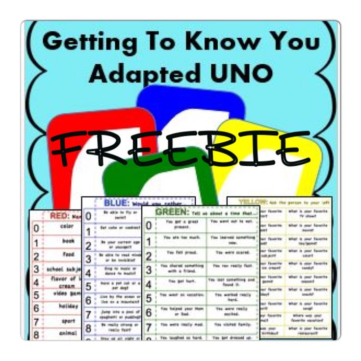 FREE- New twist on a classic. Incorporate social skills questions that correspond to UNO (R) by Mattel cards