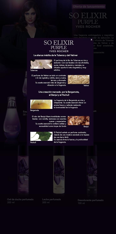 Los componentes del perfume so elixir purple