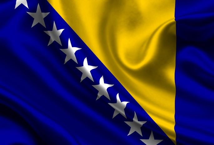 Bosnia and Herzegovina, Satin, Flag