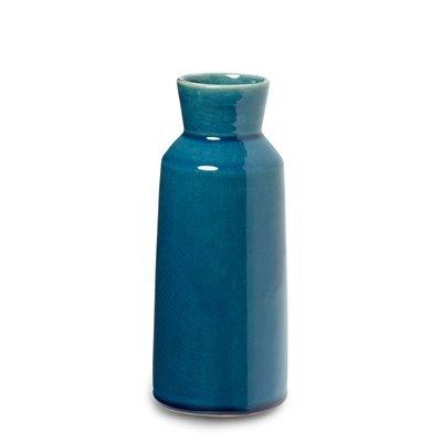 Earthenware Bottle Vase - Aqua