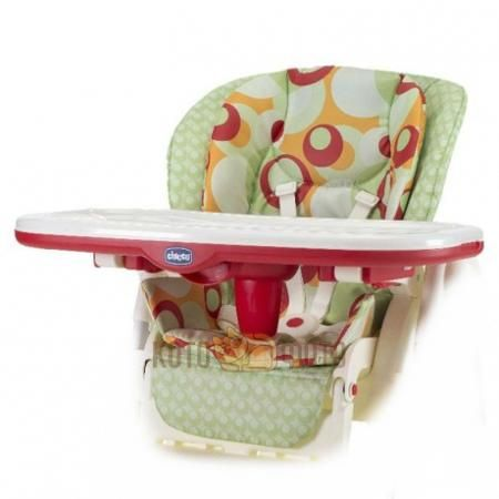 Настил для стульчика для кормления Chicco Polly Double Phase (Sunset)  — 3340р.  Съемный вкладыш с двойной набивкой. Верхнее покрытие из клеенчатой ткани