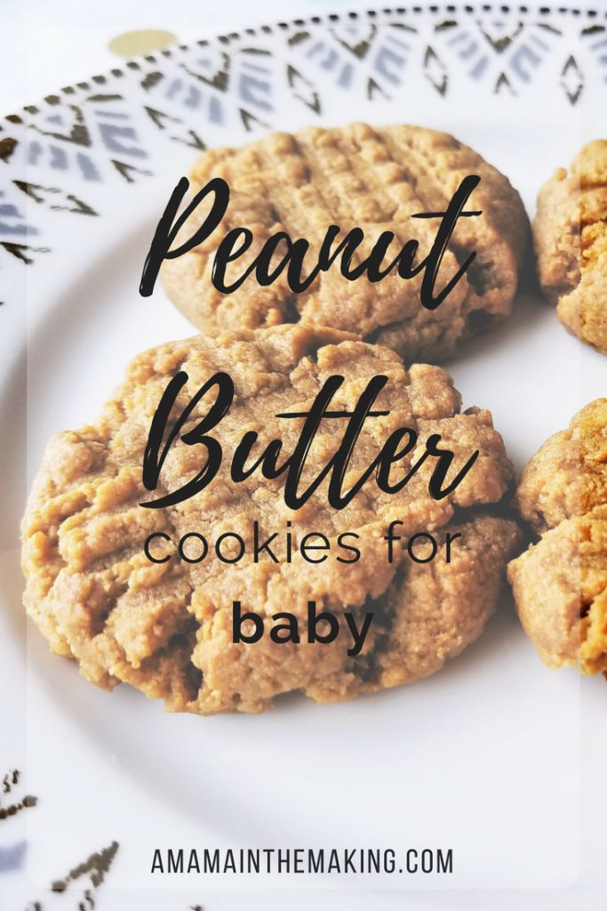 Peanut butter cookies for introducing peanuts to your peanut! . peanut butter, peanut butter cookies, baby cookies, cookies for baby, teething cookies, allergy cookies, peanut allergy, allergy test, early peanut, introduce peanut to baby, introducing peanuts, peanut butter for baby, easy baby recipe, easy baby cookie recipe, easy peanut butter cookies