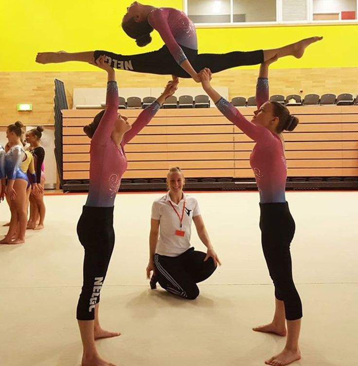 Pinterest: laurynloiselle This is acro or gymnastics
