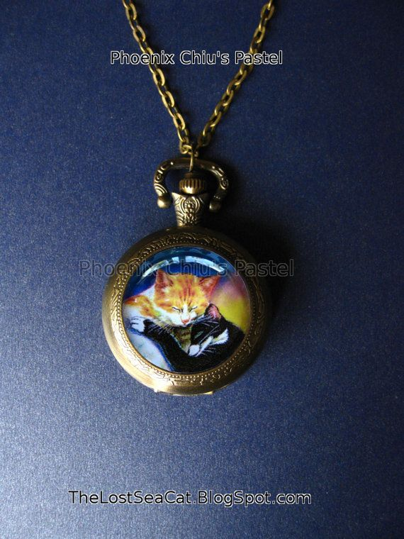 Pocket Watch Cat Pocket Watch For Men Pocket Watch by phoenixchiu