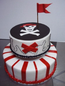 pirate birthday cake...just the top part for smash cake