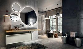 Collezione Regolo by Edoné Design - 15 - Tagli geometrici per soluzioni di arredo bagno che esaltano la profondità dello spazio// troppo  strano?!|