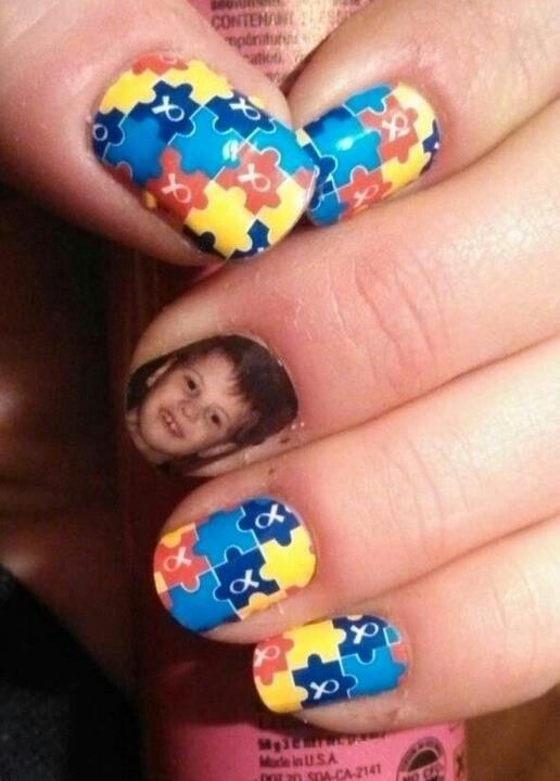 92 best autism awareness nail art images on pinterest nail art jamberry autism awareness combinded with nail studio photo accent prinsesfo Images