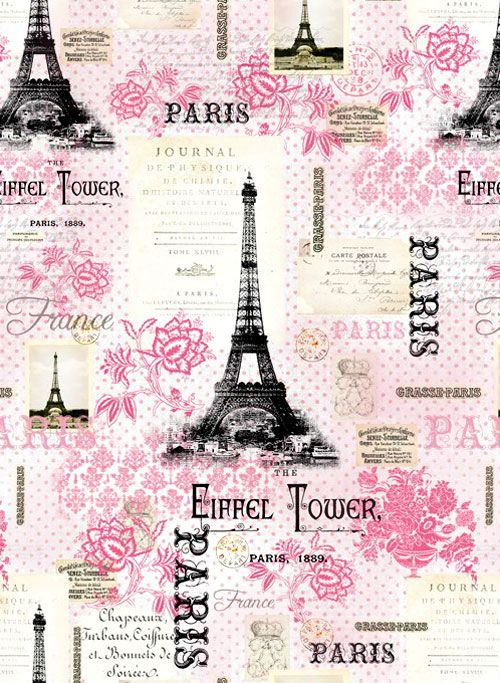Pink Paris - Eiffel Tower Confection -Quilt Fabrics from www.eQuilter.com
