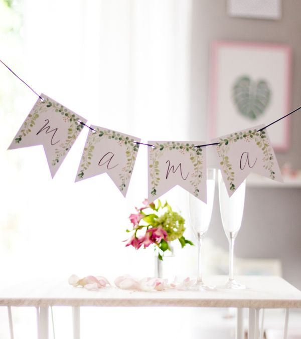 DIY Wimpelkette zum Muttertag. Gratis zum Ausdrucken. titatoni.de – Printables & Freebies