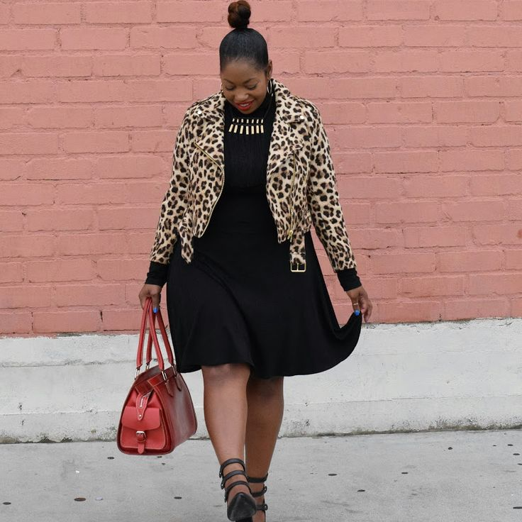 A Classic Case of Fall Fever #plussize #curvy #leopardprint #turtleneck #classicstyle