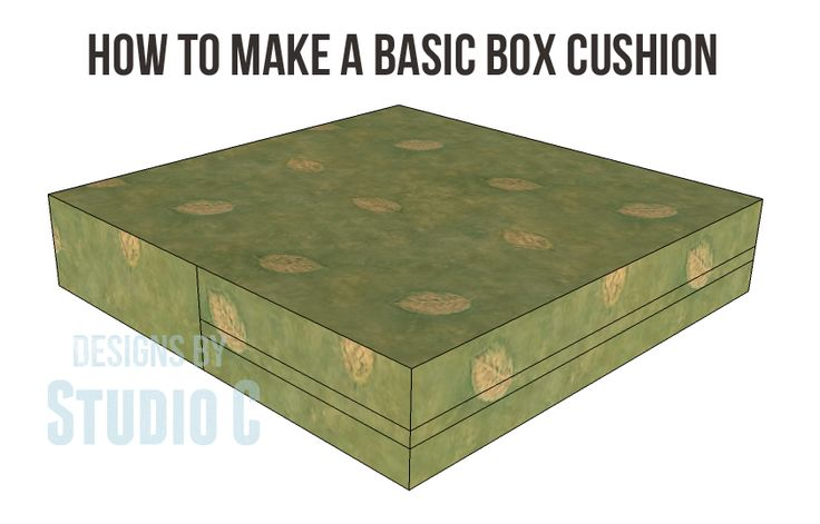 How to Make a Basic Box Cushion You may not know this but I was a seamstress long before I was a draftsman or DIYer. I made most of my clothes in high school, as well as most of my kids clothes bef…