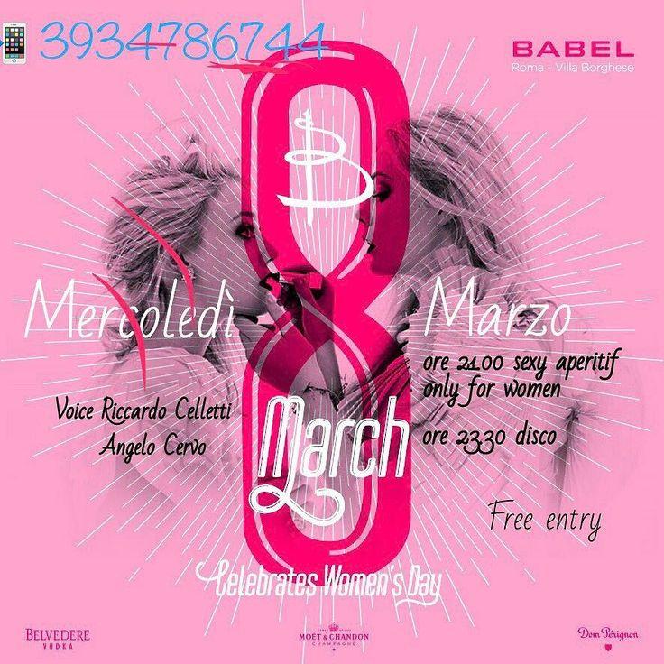 Discoteche roma eventi: 8 marzo buffet e disco Omaggio donna al