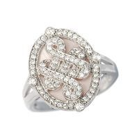 Sterling Silver Jewellery, Pink Mother of Pearl Ring