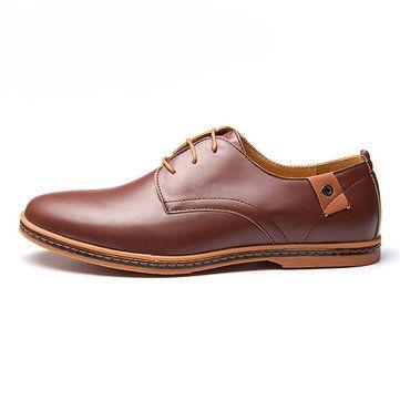 Large US Size 7.5-12 Men Business Shoes Flat Casual Soft Oxfords Shoes - US$35.89