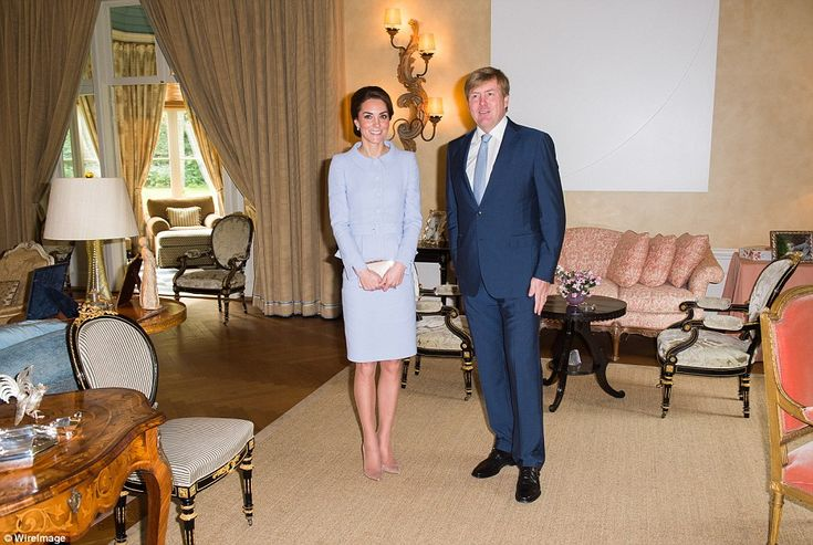 Kate's outfit is a bespoke creation by Chelsea-based designer Catherine Walker who was a favourite of Princess Diana