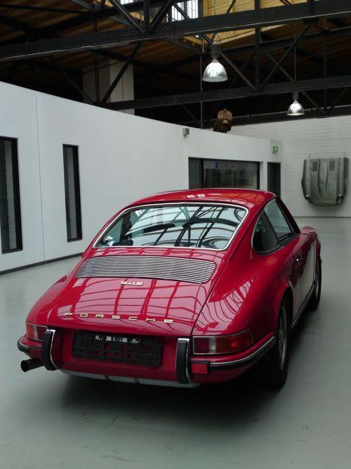 Pre-1974 Porsche 911S (S being the highest performance version available up until 1973.  The color here is Polo Red; I don't think that is an original color.