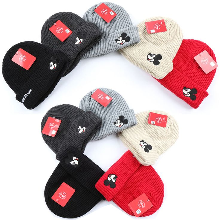 Unisex Mens Women Disney Mickey Mouse Face Beanie Knit Skull Ski Winter Cap Hats #hellobincom #Beanie