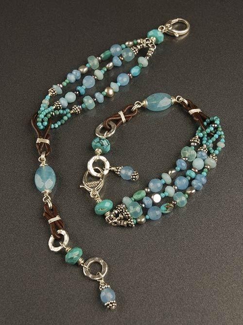 Aegean Sea Bracelet, $120, by Harmony Scott